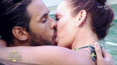 Gabano et Jesseka, le BISOU dans la piscine !
