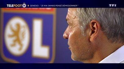 """[EXCLU Téléfoot – 23/09] - OL / Genesio : """"Je n'ai jamais pensé démissionner"""""""