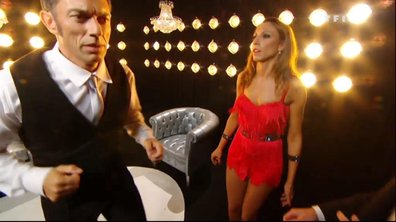 Gérard et Silvia s'échauffent avant de rentrer en scène.