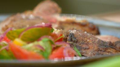 Gigot d'agneau breton rôti au beurre salé et au thym frais