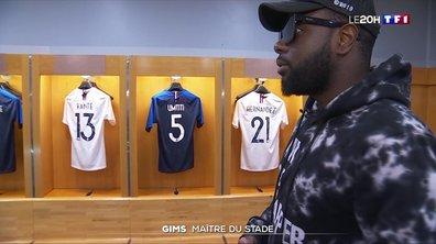 Gims visite le Stade de France, avant son concert du samedi 28 septembre 2019