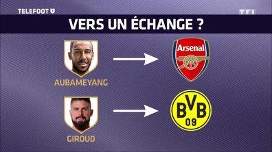 [EXCLU Téléfoot 21/01] – Mercato : Offre d'Arsenal pour Aubameyang, un échange avec Giroud dans l'air avec Dortmund