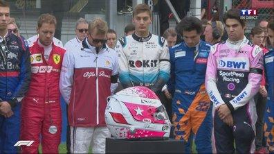 GP de Belgique : La minute de silence en hommage à Anthoine Hubert