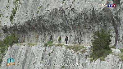 GR10 : en passant par le chemin de la Mâture qui surplombe les Gorges d'Enfer