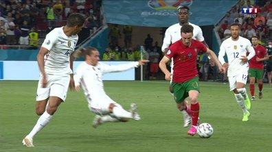 Portugal - France (0 - 0) : Voir l'énorme tacle de Griezmann en vidéo