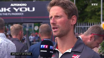 F1 - GP d'Italie : Interview de Romain Grosjean