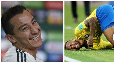 Brésil-Mexique : le tacle appuyé de Guardado à Neymar