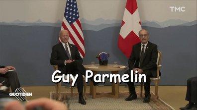 Guy Parmelin, l'homme, le mythe, la légende aux côtés de Biden et Poutine