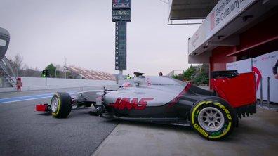 F1 : présentation de l'écurie Haas Racing avec Romain Grosjean et Esteban Gutiérrez