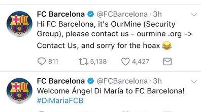Insolite / Buzz – Hacké, le compte Twitter du Barça annonce la signature de Di Maria