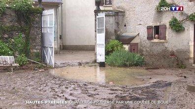 Hautes-Pyrénées : un village traversé par une coulée de boue