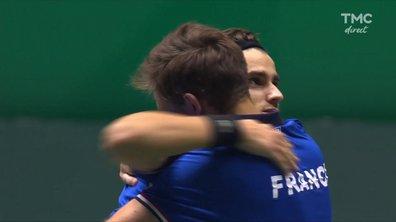 Coupe Davis : la balle de match décisive du double Mahut-Herbert en vidéo