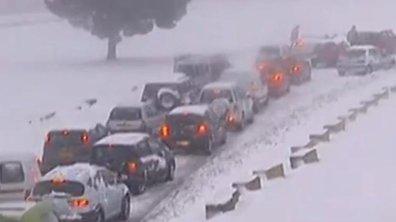 Chutes de neige et routes bloquées, 20 départements en vigilance orange