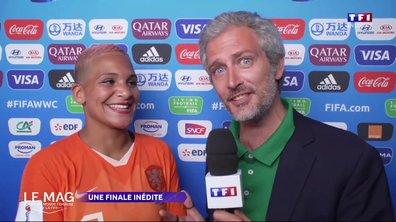 """Shanice van de Sanden en français ! """"Très, très, très contente !"""""""