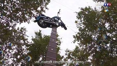 Hommage à Johnny : une statue et une esplanade inaugurées à Paris