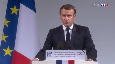 Hommage aux victimes de l'attentat à la préfecture : Emmanuel Macron appelle la nation à combattre le terrorisme islamiste