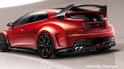 Honda Civic Type R Concept 2014 : 280 chevaux prévus au Salon de Genève
