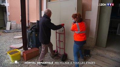 Hôpital démantelé : recyclage à tous les étages
