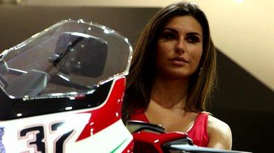 Les hôtesses du Salon moto EICMA de Milan 2016