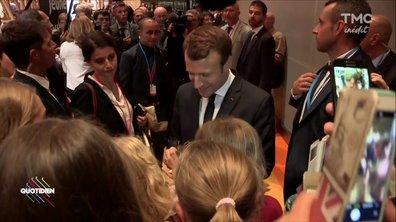 Hugo Clément traque Macron à Francfort
