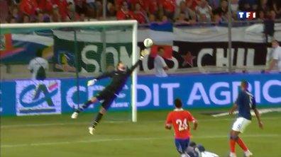 But de Cordova : France 1 - 1 Chili, 76ème