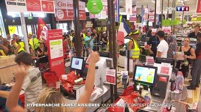 Hypermarché sans caissières : ouverture contestée à Angers