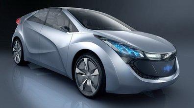 Hyundai Blue Will Concept : une voiture verte teintée de bleu