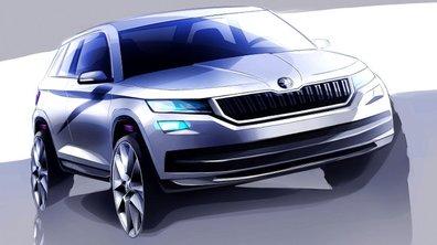 Futur Skoda Kodiaq 2017 : les premières esquisses du SUV dévoilées