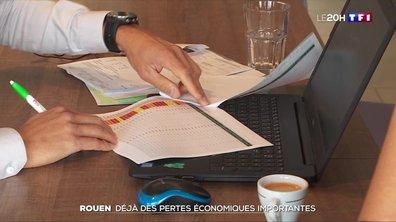 Incendie à Rouen : déjà des pertes économiques importantes
