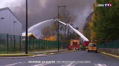 Incendie au Havre : 150 personnes évacuées