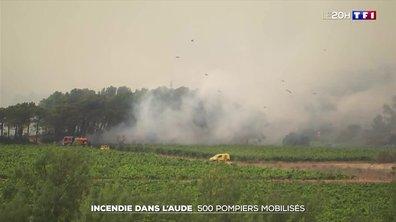 Incendie dans l'Aude : 500 pompiers mobilisés