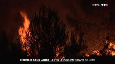 Incendie dans l'Aude : le feu le plus important de l'été