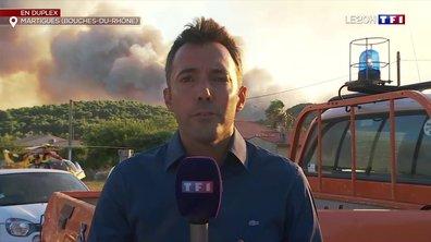 Incendie dans les Bouches-du-Rhône : des centaines de pompiers mobilisés à Martigues
