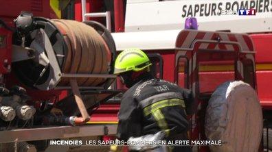 Incendie : les sapeurs-pompiers en alerte maximale