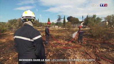 Incendies dans le Sud : les sapeurs-pompiers en alerte
