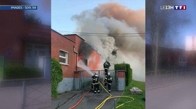 Indignation à Lille après l'incendie d'une école maternelle