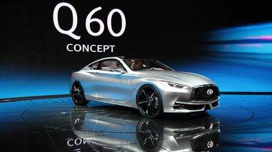 Infiniti Q60 Concept 2015 : le premium japonais en impose à Detroit