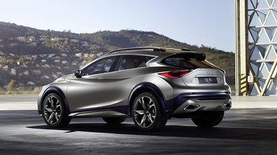 Infiniti QX30 Concept 2015 : nouveau cliché pour le futur crossover