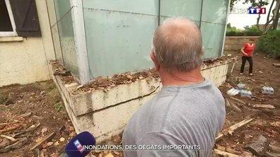 Inondations dans le Gard : opération nettoyage à Aigues-Vives