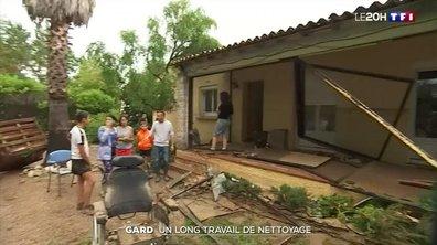 Inondations dans le Gard : un long travail de nettoyage à Aigues-Vives