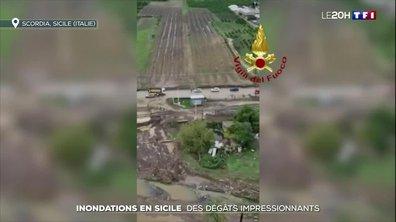 Inondations en Sicile : des dégâts impressionnants