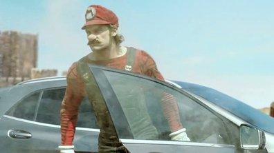 Insolite : Mario roule en Mercedes GLA