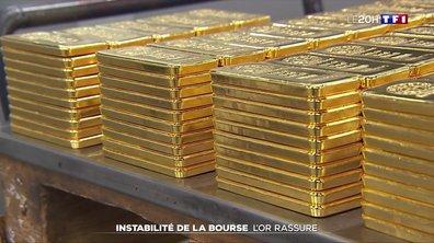 Instabilité de la bourse : l'or rassure