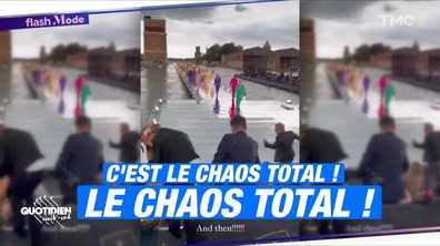 Instant karma : le défilé Dolce & Gabbana ruiné par la météo