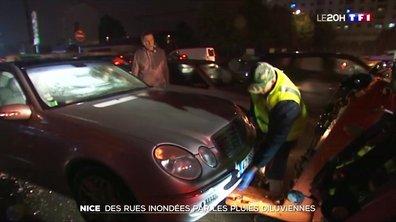 Intempéries à Nice : des rues inondées par les pluies diluviennes