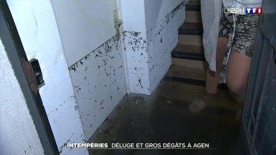 Intempéries : déluge et gros dégâts à Agen.