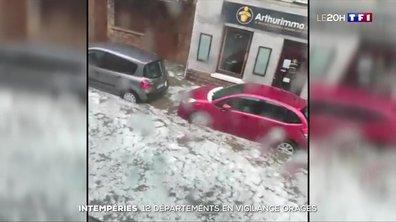 Intempéries : le Rhône frappé par d'impressionnants orages de grêle