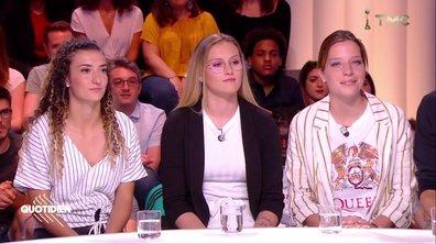 Invitées : Lisa Martinez, Eva Kouache, Emeline Saint-Georges, footballeuses de l'équipe de France espoir