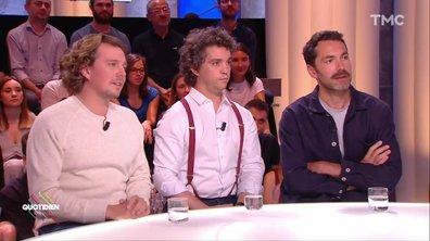 """Invités : Bruno Sanches, Alex Vizorek et Ben pour """"Trois hommes et un couffin"""""""