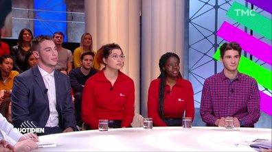 Invités : les jeunes du débat avec Macron, Estelle Ferrandes, Kadidia Nimaga, Clément Helias et Thomas Richard